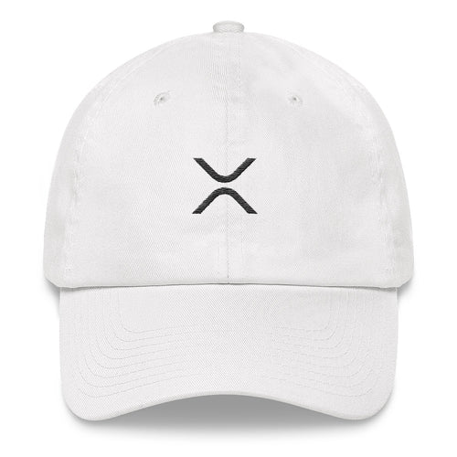 XRP Logo Dad Hat - White