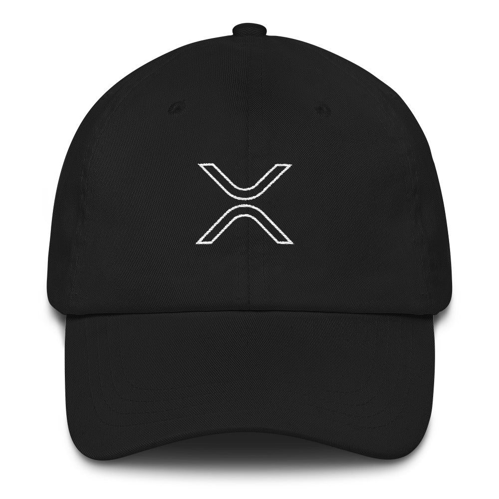 XRP Outline Logo Dad Hat - Black