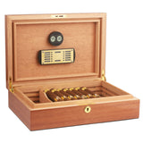 CIGARISM Piano Finish Solid Spanish Cedar Cigar Humidor (Sapele 30 Count)