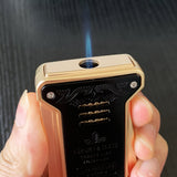 CIGARISM Luxury Fashion Carving 1 Torch Flame Cigar Lighter