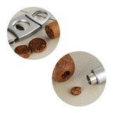 CIGARISM Stainless Steel Cigar Cutter Punch Set (Silver)