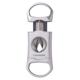 CIGARISM Silver Finish Zinc Alloy V-Cut Cigar Cutter