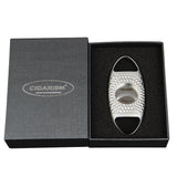 CIGARISM Damascus M390 Steel Blades Rhombus Carving Cigar Cutter