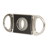 CIGARISM Genuine Carbon Fiber Stainless Steel Cigar Cutter (Carbon Fiber)