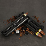 CIGARISM Genuine Carbon Fiber Aluminum Alloy Cigar Moisturizing Tube Case