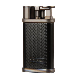 CIGARISM Ripple Pattern Zine-Alloy 1 Torch Jet Flame Professional Cigar Lighter