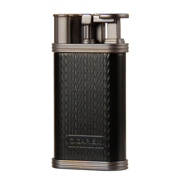 CIGARISM Wave Pattern Zine-Alloy 1 Torch Flame Professional Cigar Lighter