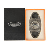 CIGARISM Copper Flower Carving Vintage 2 Blades Cigar Cutter (Bronze)