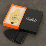 CIGARISM High-end Pure Copper Inox Stainless Steel Carving Sharp Cigar Cutter