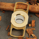 CIGARISM High-end Zinc Alloy Stainless Steel Double Blades Cigar Cutter (Gold)
