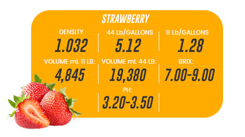 44 Lb Strawberry Aseptic Fruit Purée Bag