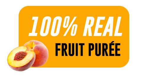 44 Lb Peach Aseptic Fruit Purée Bag
