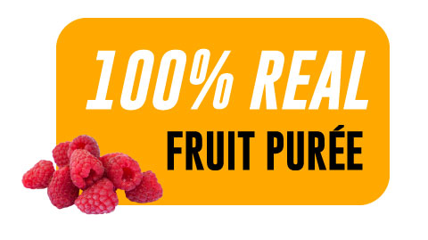 44 Lb Raspberry Aseptic Fruit Purée Bag