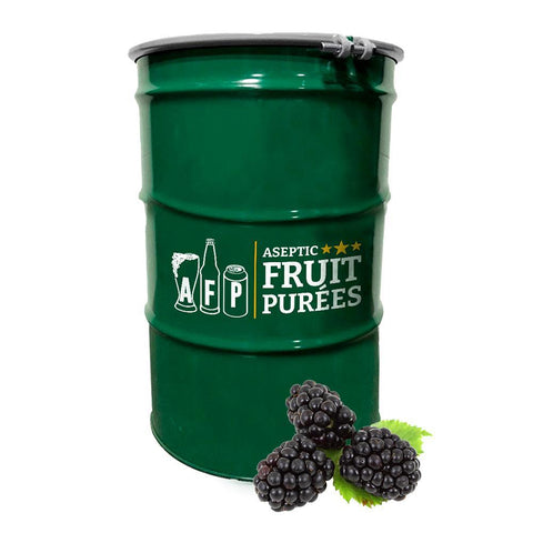 440 Lbs Blackberry Aseptic Fruit Purée Drum - AVAILABLE ON NOV 26th