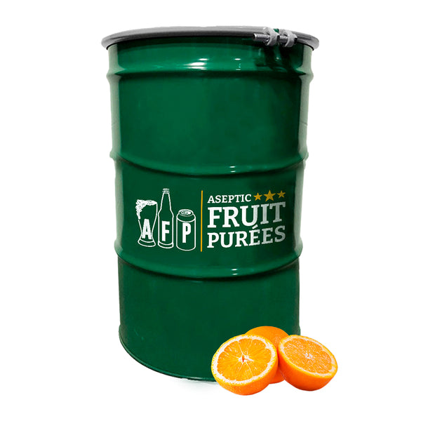 440 Lbs Orange Aseptic Fruit Purée Drum