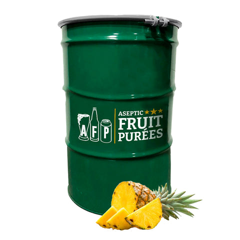440 Lbs Pineapple Aseptic Fruit Purée Drum - AVAILABLE ON NOV 26th