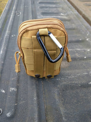 Hunt-Tag Tech Pouch with Molle/PALS webbing for attaching anywhere you can think of.