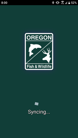 Successful account sync with the MyODFW app for hunting in Oregon