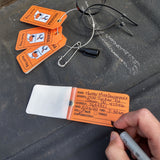 Fillable tag for hunting in Indiana, transportation tag, temporary field tag, deer tag, turkey tag