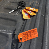 Waterproof hunting tag kit for hunting deer and turkey in the state of Indiana