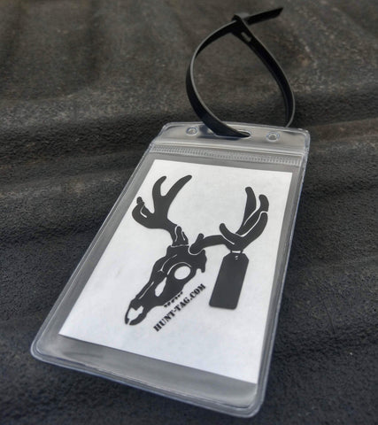 weatherproof hunting tag kit to keep tags safe and draw and have everything needed to attach to harvested animal