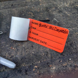 Hunting tag for legally tagging harvested big game when hunting New Mexico