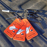 West Virginia deer hunting tag kit for properly e-tagging deer, bear, and wild turkey