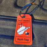 West Virginia hunt tag single for tagging deer, bear, and turkey while hunting in WV