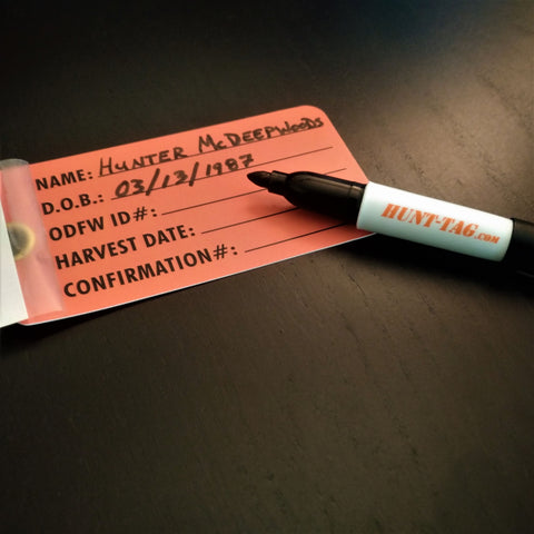 Mini Sharpie single Hunt-tag logo