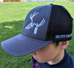 hunting hat, show support for small business that sells hunting tag kits for tagging big game with electronic tagging
