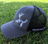 Hunt-Tag baseball hat, trucker hat, snap back ball cap, richardson 112, hunting hat