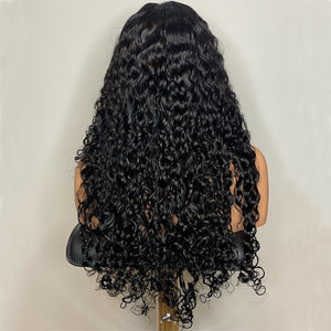 Water Wave 360 Lace Frontal Wig Pre Plucked With Baby Hair Brazilian Curly