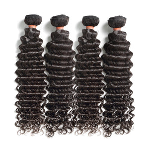 Deep wave Wet n Wavy human hair natural color
