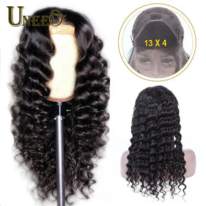 Lace Front Human Hair Wigs Peruvian Loose Deep Wave fNatural Hairline with Baby Hair