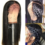Lace Front Human Hair Wig Pre Plucked Straight Lace Wig With Baby Hair