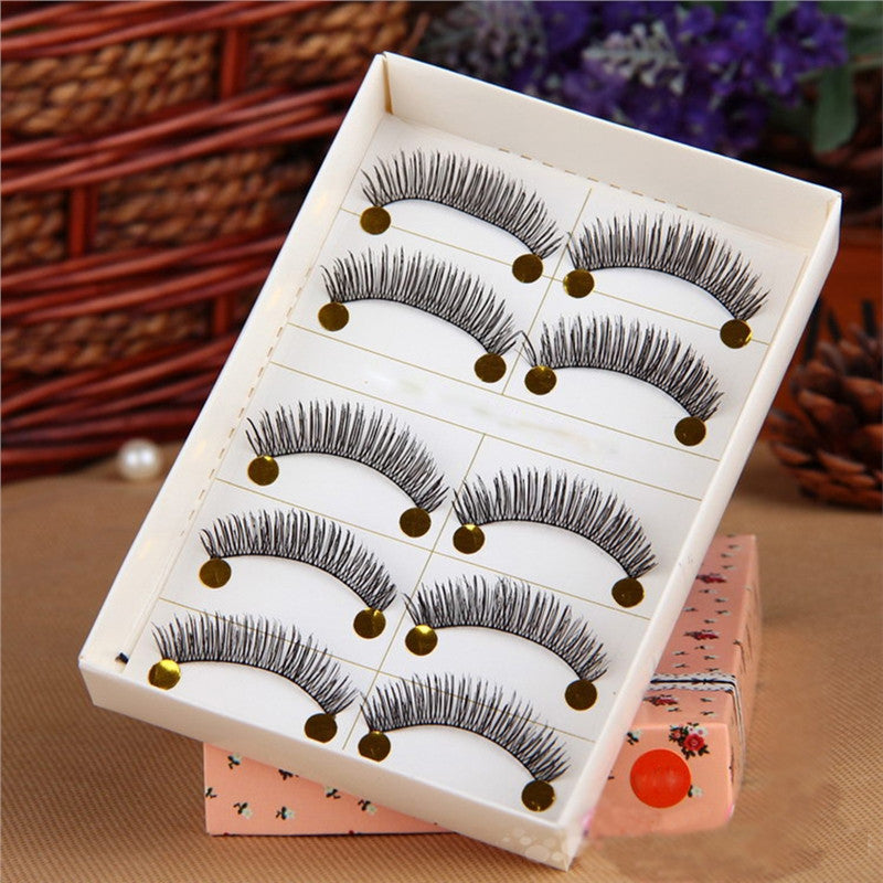 5 Pairs of Handmade Soft Long Eyelashes Makeup Eye Lashes