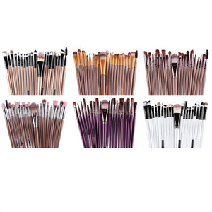 22 Pcs Professional Portable Makeup Brushes Cosmetic Tools Foundation Brush Eyebrow Brush Kit (Black)