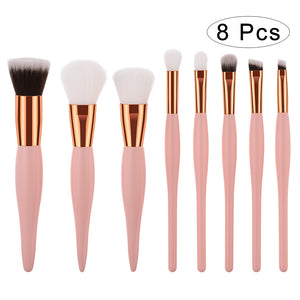 8 Pcs Makeup Brush Set Professional Cosmetics Makeup Brushes Synthetic Blending Blush Brushes