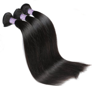 Indian Temple Hair Human Virgin Straight Hair 3 Bundles Unprocessed Human Hair Weave