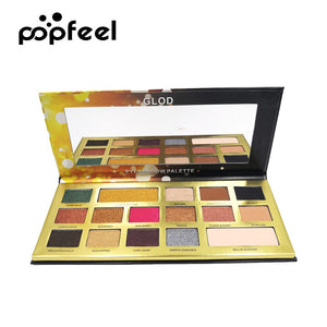 Popfeel 16 Colors Eye Shadow Makeup Eyeshadow Palette