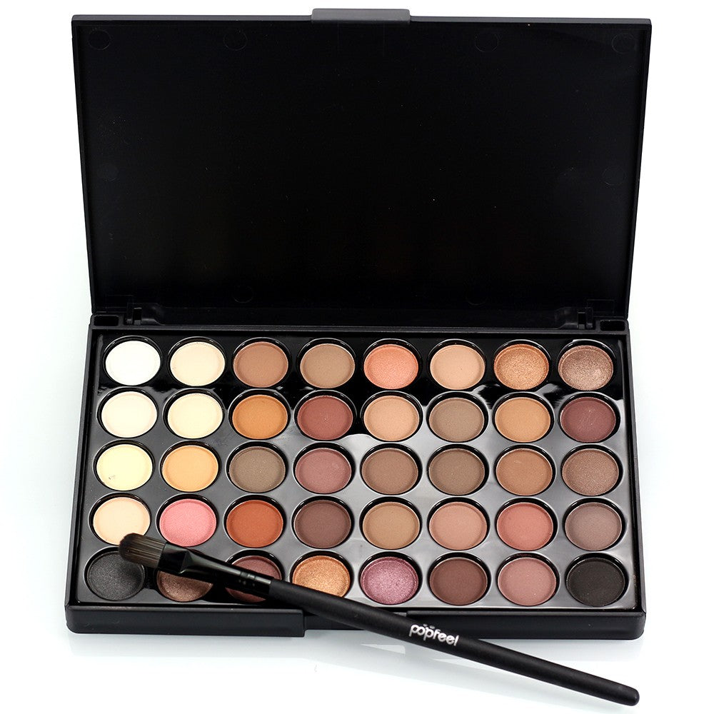 Popfeel 40 Colors Makeup Eyeshadow Palette with Brush Eyes shadow