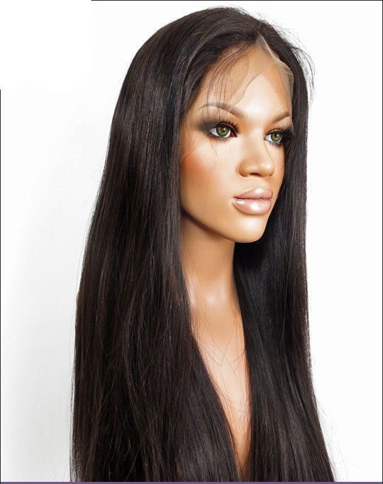 Easy Hair Pre plucked Brazilian Straight Human Hair Lace Frontal Wig 1pc/lot