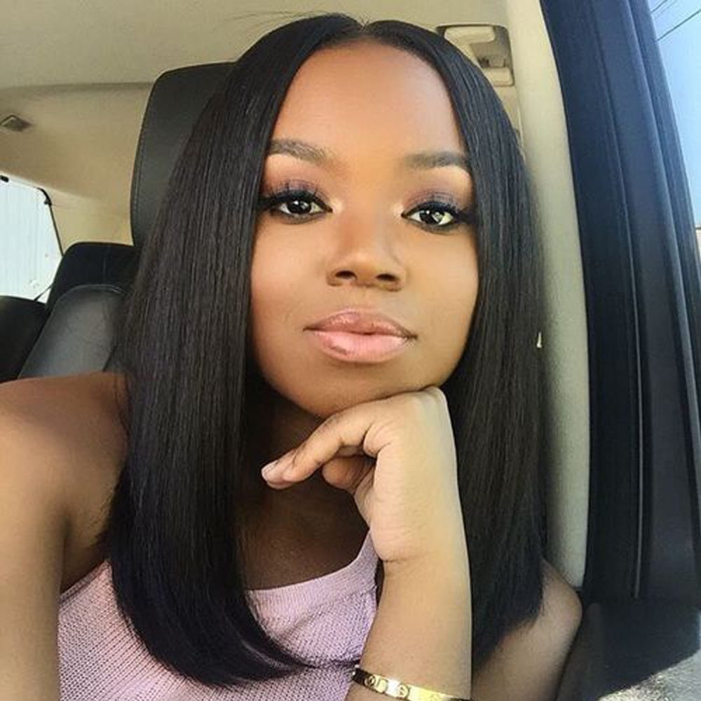 Beaudiva Lace Front Human Hair Wigs Short Human Hair Wigs Brazilian 100% Human Hair Straight Lace Front Human Hair Wigs Bob Wig