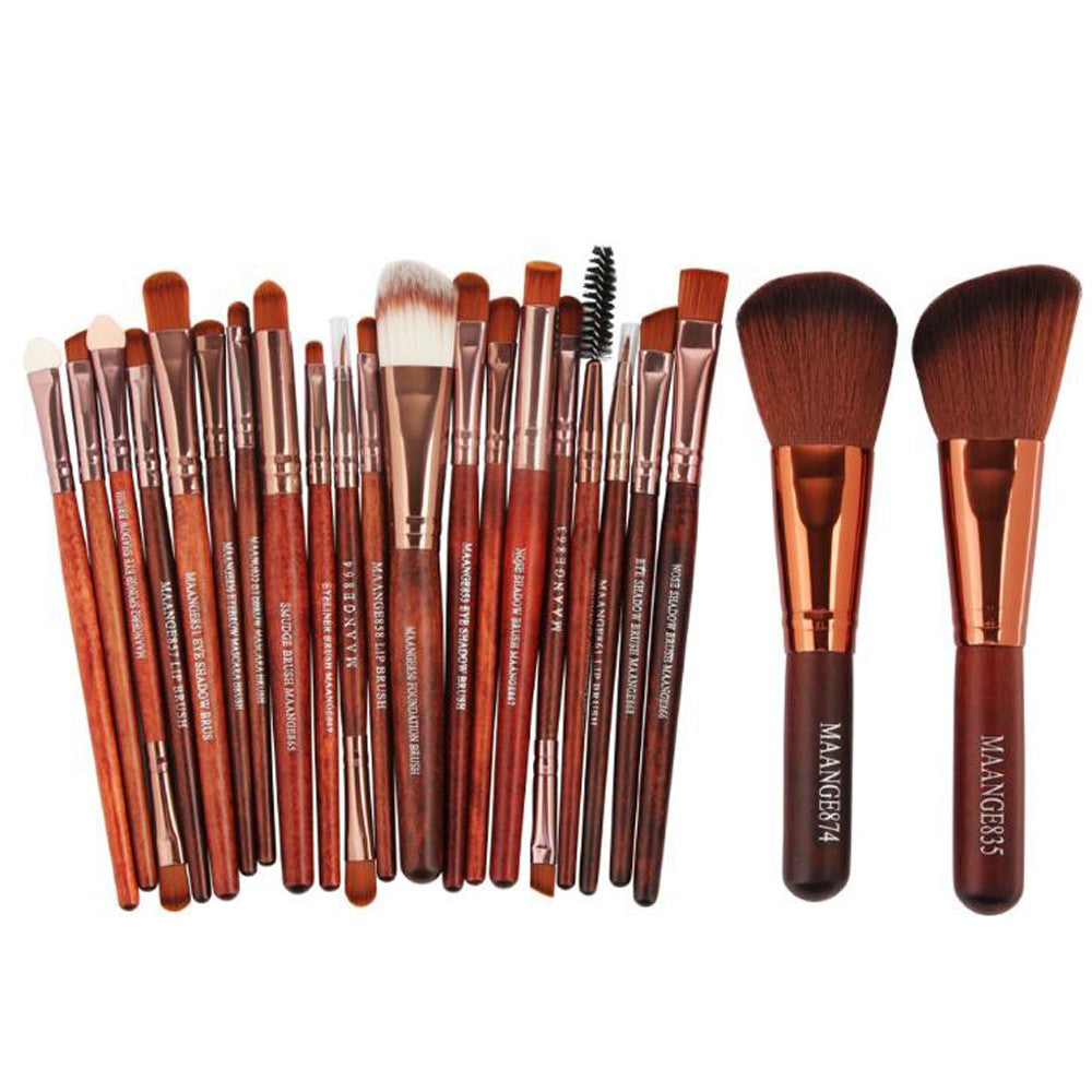 Professional 22 pcs Foundation Makeup Brushes Eyebrow Lip Powder Eyeshadow Brush Cosmetic Blush Brush Kit