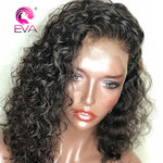 360 Lace Frontal Wig Pre Plucked With Baby Hair 180% Density Curly Lace Front Human Hair Wig