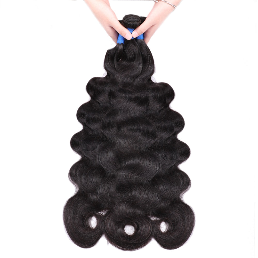 Mstoxic Body Wave Bundles 30 Inch Bundles  32 34 36 38 40 Inch Brazilian Hair Weave Bundles Remy Human Hair Extension 1Pcs