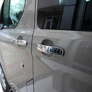 4st Chrome Deurhendels cover set Ford Custom 2012> - slimshoppen