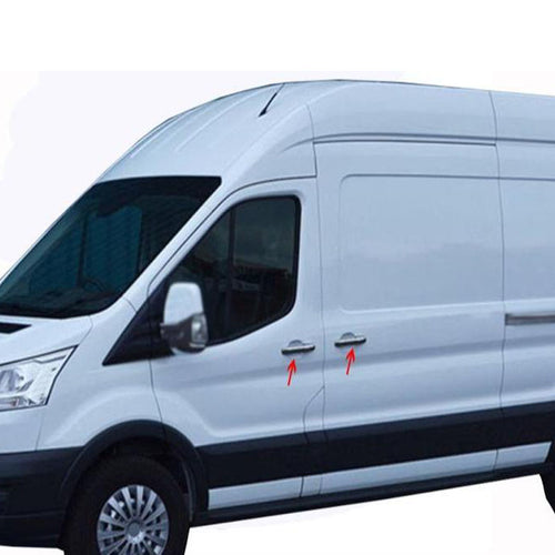 5st Chrome Deurhendels cover set Ford Transit 2014> - slimshoppen