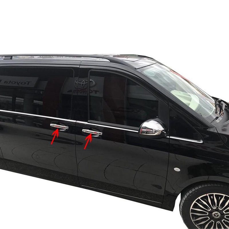 4st Chrome Deurhendels cover set Mercedes Vito W447 2014> - slimshoppen