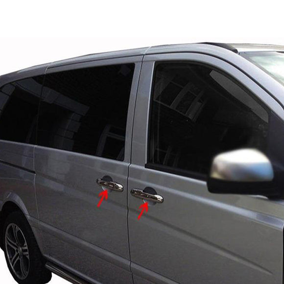 3st Chrome Deurhendels cover set Mercedes Vito W639 2003-2014 - slimshoppen